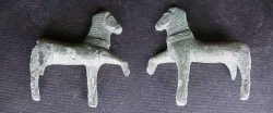 Ancient Coins -  Roman bronze figurine of a horse.  50mm;