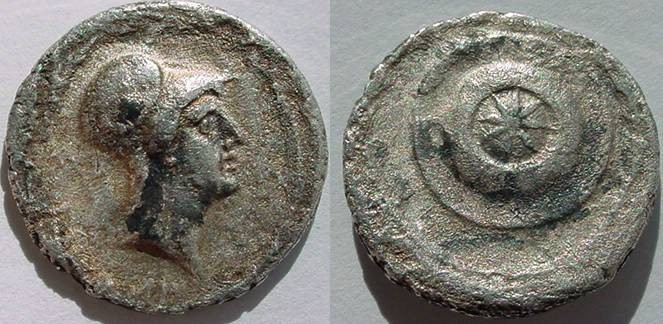 Ancient Coins - OCTAVIAN. 30-29 BC. AR Denarius (3.33 gm). Uncertain Italian mint possibly Rome.