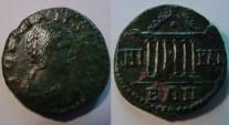 Ancient Coins - Julia Mamaea, AE22, 222-235AD, Bithynia, Nicaea,Beautiful Hexastyle temple.Very Rare