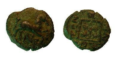 Ancient Coins - Maroneia, Thrace, AE15. Horse prancing right/linear square containing vine