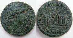 Ancient Coins - Macedonia Koinon AE 26mm.Diademed head of Alexander/Two pentastyle temples.