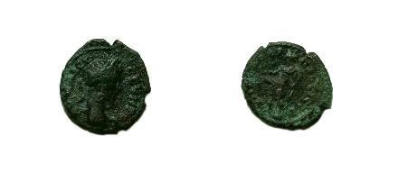 Ancient Coins - Septimius Severus Æ17 of Nikopolis, Moesia Inferior.  Ithyphallic Priapus standing left.
