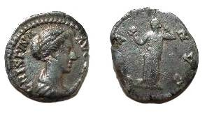 Ancient Coins - Crispina Denarius.  VENVS, Venus standing left, holding an apple.