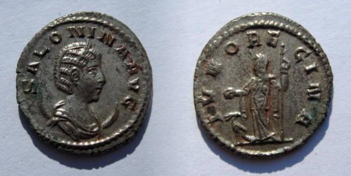 Ancient Coins - SALONINA: AE ANTONINIAN: 100% SILVERED