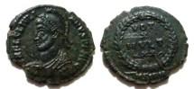 Ancient Coins - Julian II Æ 20mm. VOT X MVLT XX within wreath; BSIRM.