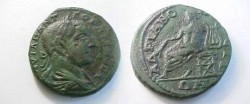 Ancient Coins - Gordian III Æ 27mm of Hadrianopolis in Thrace.  Apollo seated left, holding branch & leaning upon lyre.