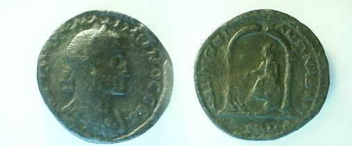 Ancient Coins - Adana/ Cilicia,  Maximinus Thrax AE30mm(16.1g.) / Goddess in shrine.