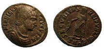 Ancient Coins - Helena Æ Follis.  SECVRITAS REIPVBLICE,  Securitas standing left, holding branch pointing down, raising robe with right hand, SMHB in ex.