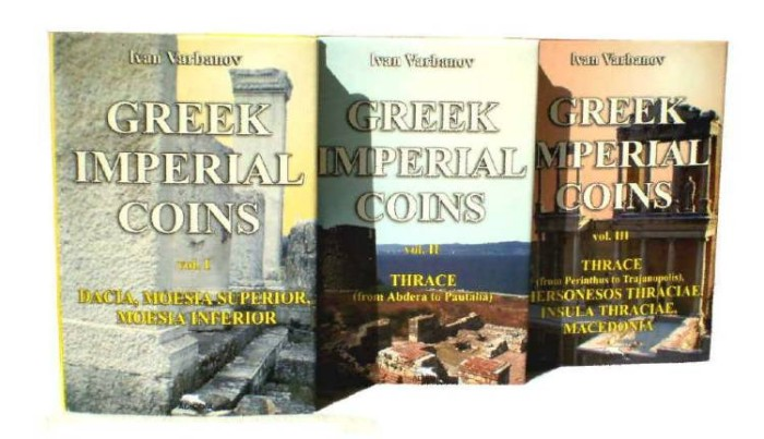 Ancient Coins - 1 - SKU: 431 ID: 2770 - GREEK IMPERIAL COINS- BY IVAN VARBANOV. NEW ENGLISH VERSION .Part I, Part II and  Part III