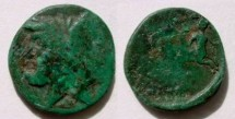 Ancient Coins - Thessalonica. AE23mm, Janus / Two centaur, one on right, the other – left