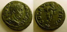 Ancient Coins - Troas, Alexandria Troas. Valerian I. 253-260 AD. Æ 21mm Silenos or( satyr Marsyas) with hand raised and wineskin over shoulder.
