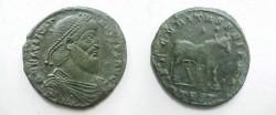 Ancient Coins - Julian II Æ1. D N FL CL IVLI-ANVS P F AVG, pearl-diademed, draped & cuirassed bust right / SECVRITAS REIPVB, bull standing right,