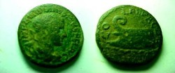 Ancient Coins - Gordian III AE23 of Deultum, Thrace.  COL F L PAC DEVLT, ship~s prow left.