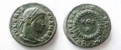 Ancient Coins - Crispus AE3. VOT X in wreath.