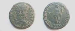 Ancient Coins - Septimius Severus AE29 Pentassarion of Markianopolis. Homonia standing left with patera & cornucopiae.