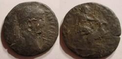 Ancient Coins - THRACE. Hadrianopolis. Caracalla. 198-217 AD. Æ Hercules capturing the Ceryneian  Hind.