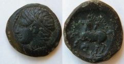 Ancient Coins - PHILIP II,359-336B.C.AE18.Hd. of Apollo l.(?).Naked youth on horse