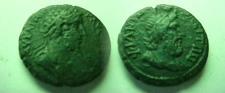 Ancient Coins - Commodus AE23 of Philippopolis, Thrace.  Diademed, draped bust of Zeus right.
