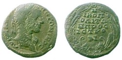 Ancient Coins - Caracalla AE28 of Nikopolis ad Istrum.  City name, six lines in laurel wreath.