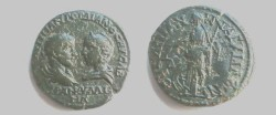 Ancient Coins - Gordian III & Tranquillina AE26 of Anchialus. Nemesis standing left with scales & wheel at feet.