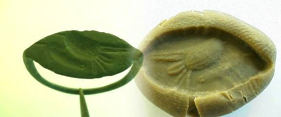 Ancient Coins -  Greek bronze seal ring with incuse of a bird.  c 400 BC.