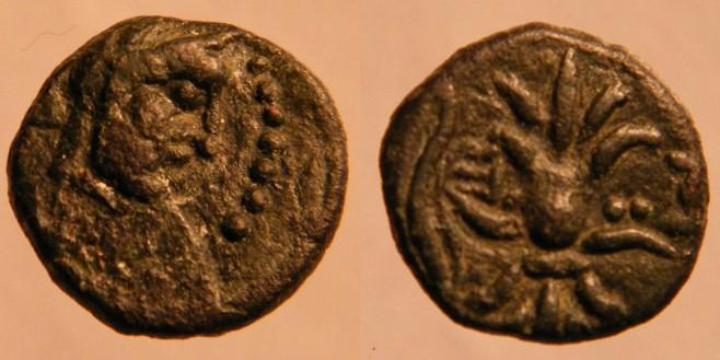 Ancient Coins - Thracian Kingdom. Seuthes III, circa 330-300 BC.Zeus right /  Rev.: ΣEYΘOY, thunderbolt.  EF with beautiful green patina!!Rare