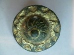 Ancient Coins -  Roman gold plated bronze brooch in the form of a sunburst.  33mm.
