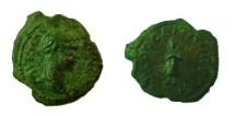 Ancient Coins - Caracalla AE19 of Nikopolis, Moesia Inferior.   Telesphoros standing facing in long hooded cloak.