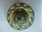 Roman gold plated bronze brooch in the form of a sunburst.  33mm.