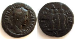 Ancient Coins - Maximinus I AE25 of Anchialus. Three female figures (Demeter, Persephone & Hecate?),