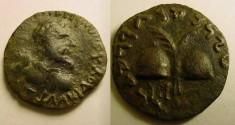 Ancient Coins - BACTRIA.ANTIALCIDAS(165-135 BC)AE Hemi-obol