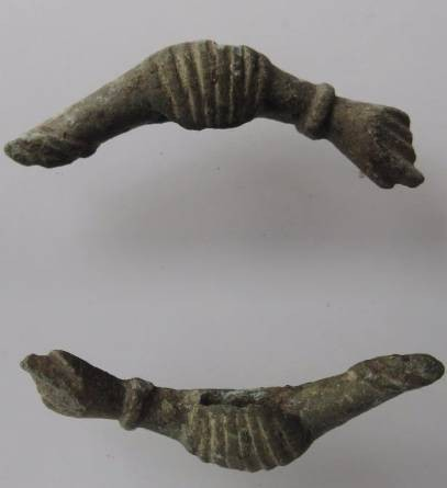 Ancient Coins - 100AD. Roman double-headed phallic amulet.44mm