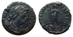 Ancient Coins - Procopius AE3. 364-367 AD. Emperor standing facingi, head left, holding spear & sheild, CONSA in ex.