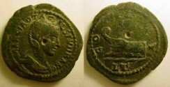 Ancient Coins - Otacilia Severa AE26 of Thrace, Deultum.Prow.
