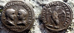 Ancient Coins - Gordian III & Tranquilina Æ 26mm of Thrace, Anchialus.