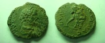 Ancient Coins - Septimus Severus AE24 of Pautalia, Thrace.  Hercules wrestling the Namean Lion right.