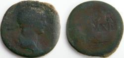 Ancient Coins - TRAJAN AE Sestertius. REX PARTHIS DATVS.Trajan  presenting Parthamaspates to kneeling Parthian.