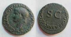 Ancient Coins - Germanicus, Æ as, struck under Caligula.  C CAESAR AVG GERMANICVS PON M TR POT around large SC.