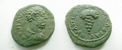 Ancient Coins - Commodus AE20 of Pautalia.  Bunch of grapes.