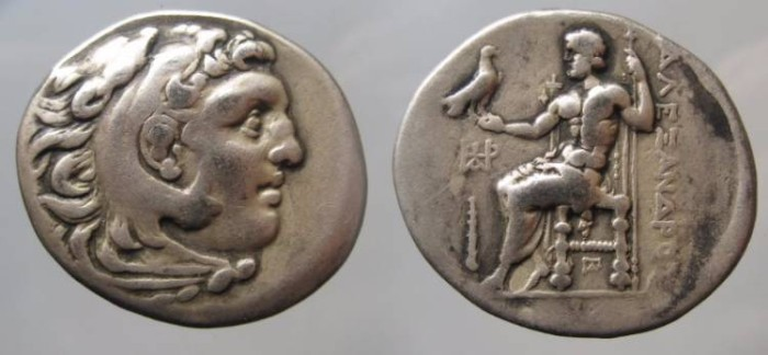 Ancient Coins - Alexander III AR Tetradrachm. c320-315 BC. ALEXANDROU to right, CLUB to left