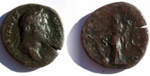 Ancient Coins - Hadrian (119-138 AD)  Æ Sestertius. Draped bust right
