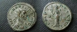 Ancient Coins - Probus Silvered AE Antoninianus. Felicitas standing right with caduceus & cornucopiae