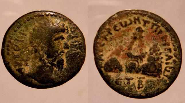 Ancient Coins - Lucius Verus of Cappadocia.Caesareia AE21mm Year 3/2(Γ over B ).View of Mount Argaeus