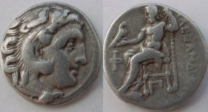 Ancient Coins - Macedon, Kings of. Alexander III. 336-323 BC. AR Drachm (4.25gm).