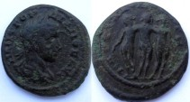 Ancient Coins - Moesia Inferior, Markianopolis. Gordian III. Æ 23mm .The three charities standing together
