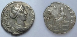 Ancient Coins - PRETTY Lucilla (Commodus' sister, married to Verus) AD 165-169 Silver Denarius