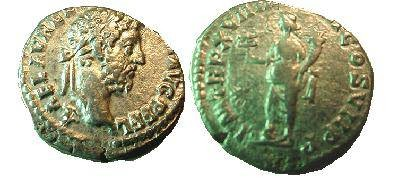 Ancient Coins - Commodus Denarius,  192 AD.  P M TR P XVII IMP VIII COS VII P P, Fortuna Felix standing left, holding caduceus & cornucopia; right foot on prow of galley, star to left.