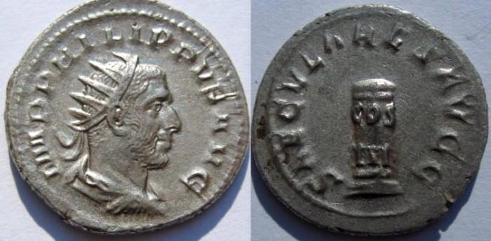 Ancient Coins - PHILIP I ARAB AR ANTONINIANUS. SAECULARES GAMES