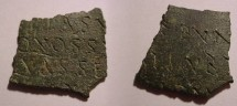 Ancient Coins - Small Fragment of Roman Military Diploma