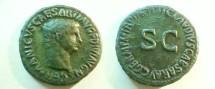 Ancient Coins - Germanicus Æ As struck under Claudius.  TI CLAVDIVS CAESAR AVG GERM P M TR P IMP P P around S-C.